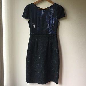 Elie Tahari Lolly Combo Tweed Sheath Dress